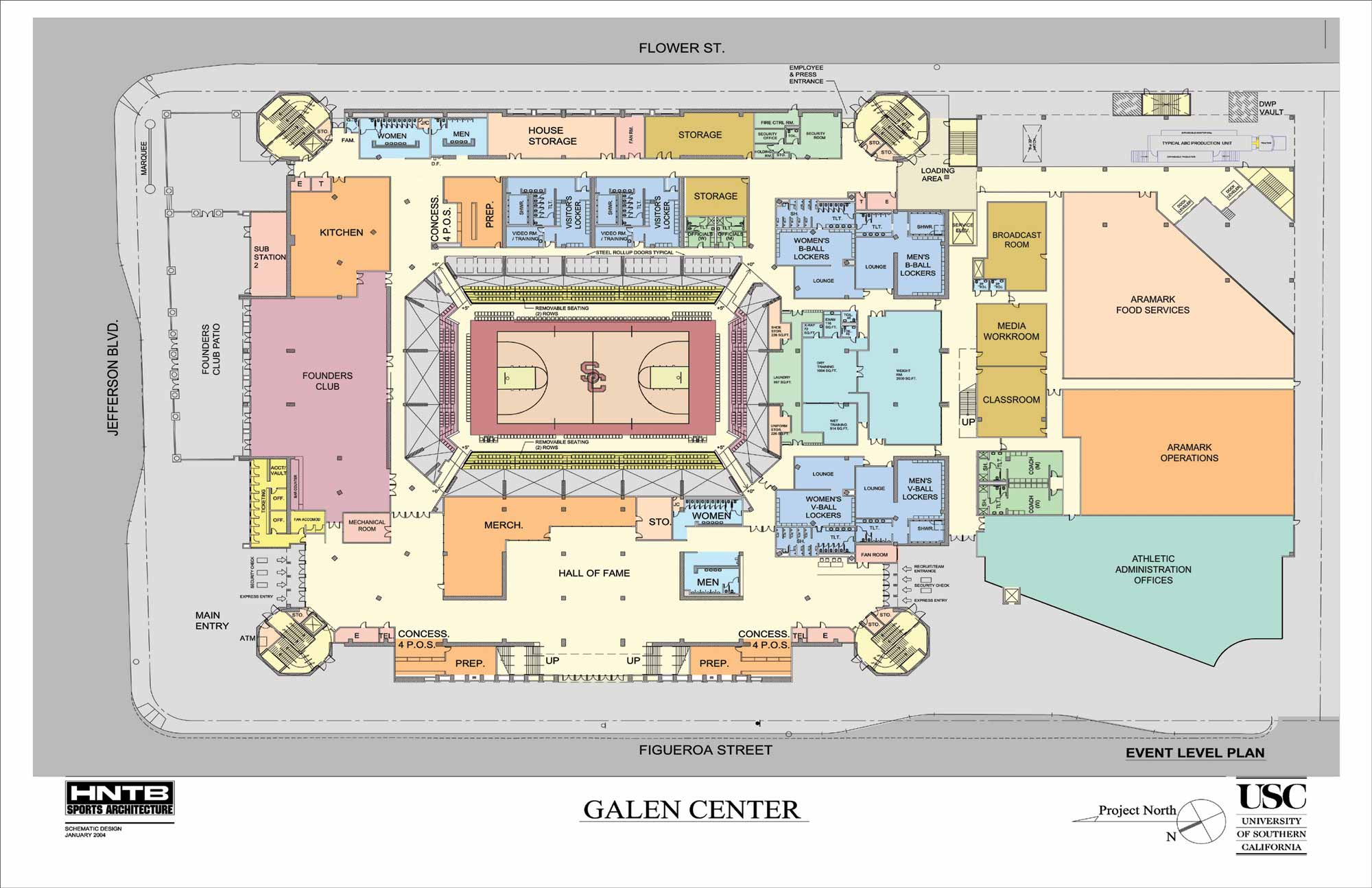 Arena map galen center for Room planning website